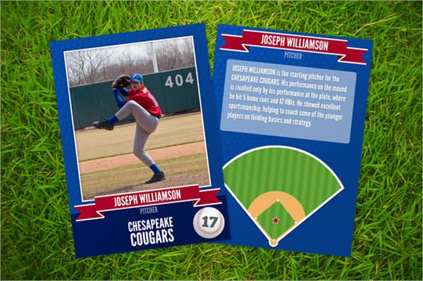 Baseball Card Template Photoshop 7 Sample Trading Card Templates