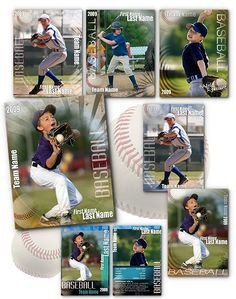 Baseball Card Template Photoshop Baseball Card Template Perfect for Trading Cards for Your
