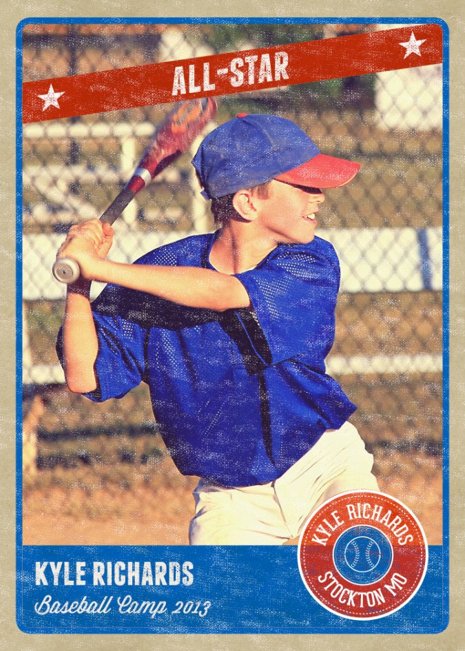 Baseball Card Template Photoshop Graphy Card Template Retro Sports Baseball