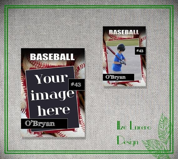 Baseball Card Template Photoshop Psd Baseball Trading Card Template by Ilzesdesigns On Etsy