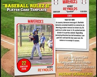 Baseball Card Template Photoshop Trader Cards
