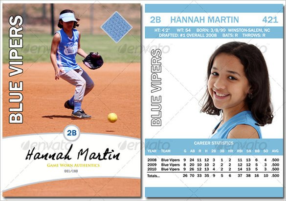 Baseball Card Template Word Baseball Card Template 9 Free Printable Word Pdf Psd
