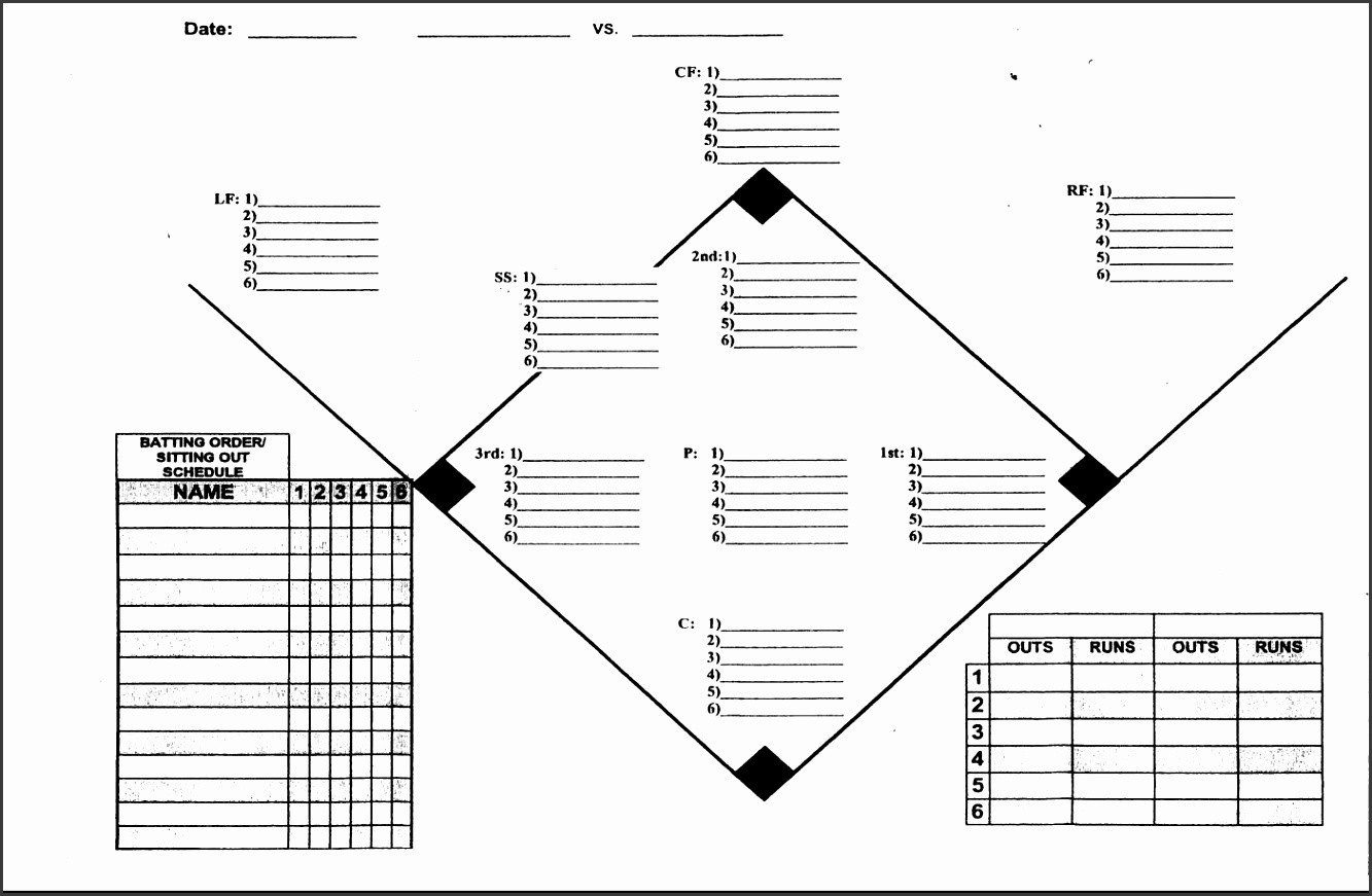Baseball Depth Chart Template 5 Baseball Depth Chart Template Sampletemplatess