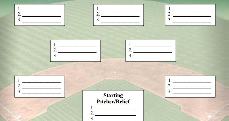 Baseball Depth Chart Template Baseball Best In the Game