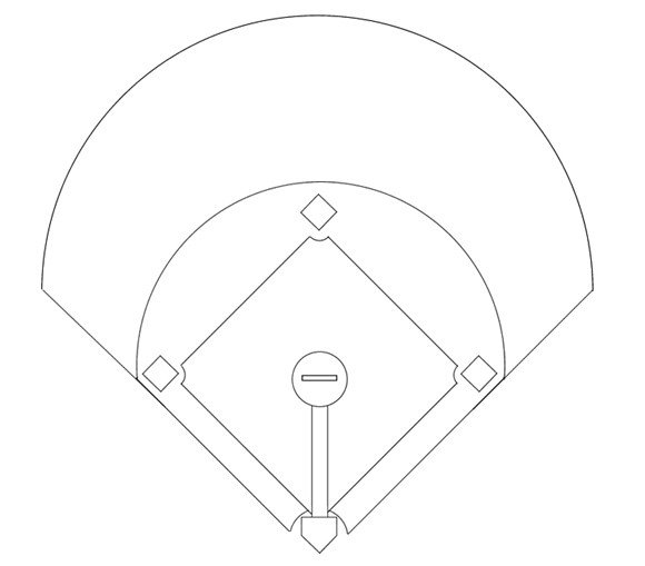 Baseball Depth Chart Template Printable Baseball Diamond Diagram