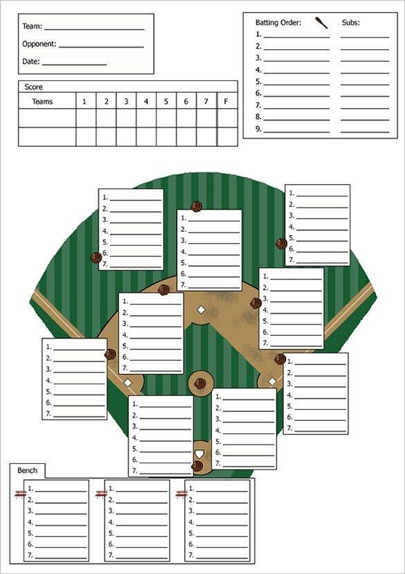 Baseball Line Up Card Baseball Line Up Card Template – 9 Free Printable Word