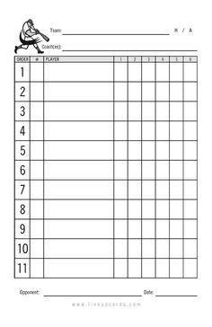 Baseball Line Up Card Printable Baseball Lineup Card Free