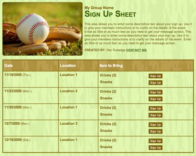 Baseball Snack Schedule Template 25 Coaching Tips