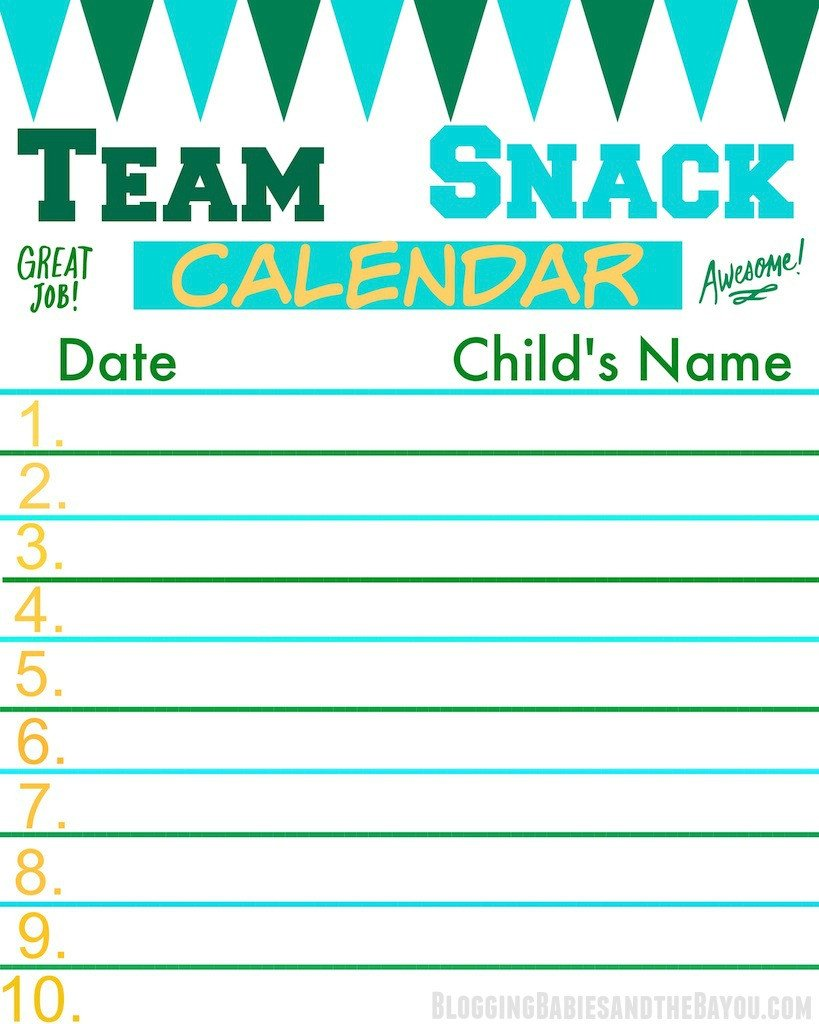 Baseball Snack Schedule Template Score Big and F the Field with Fruit Kabobs Recipe