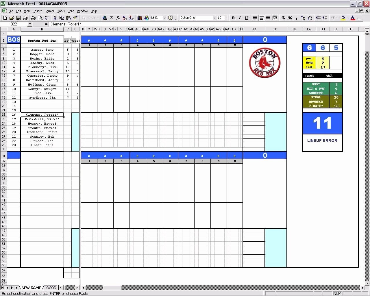 Baseball Stats Excel Template Baseball Stats Sheet Excel