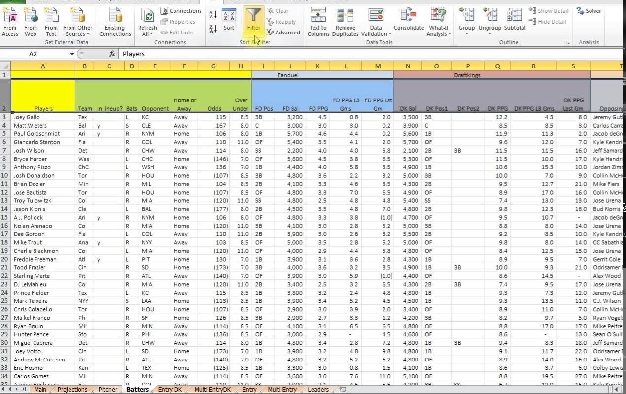 Baseball Stats Excel Template Free Baseball Stats Spreadsheet Google Spreadshee Free
