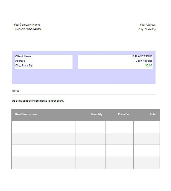 Basic Invoice Template Google Docs Download Invoice Template Google Docs