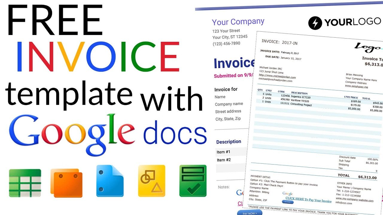 Basic Invoice Template Google Docs Free Invoice Template How to Create An Invoice Using