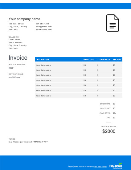 Basic Invoice Template Google Docs Google Docs Template Free Download