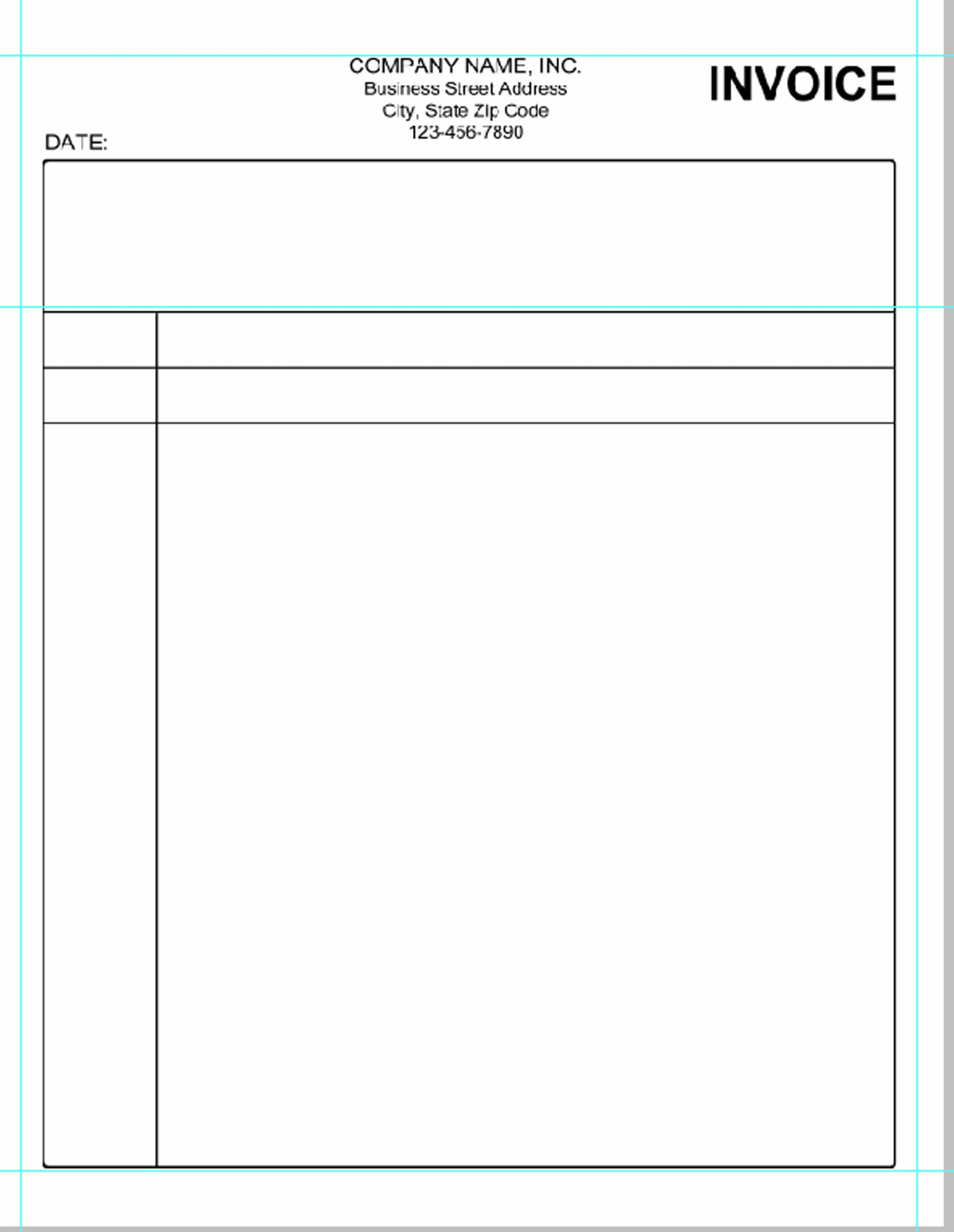 Basic Invoice Template Word Simple Invoice Template Pdf