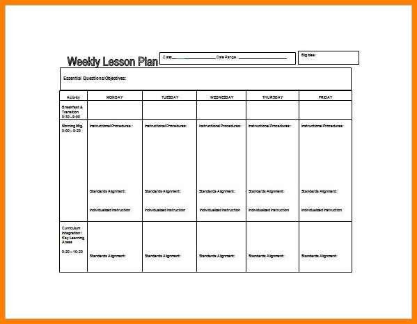 Basic Lesson Plan Template 6 Easy Lesson Plan Template Word