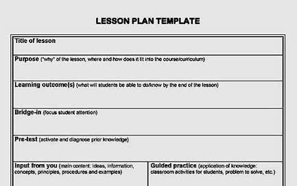 Basic Lesson Plan Template Basic Lesson Plan Template Teaching Pinterest