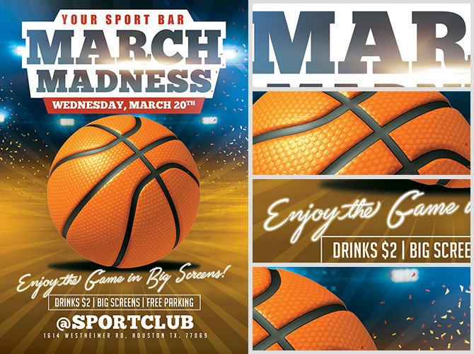 Basketball Flyer Template Free March Madness Basketball Flyer Template Flyerheroes
