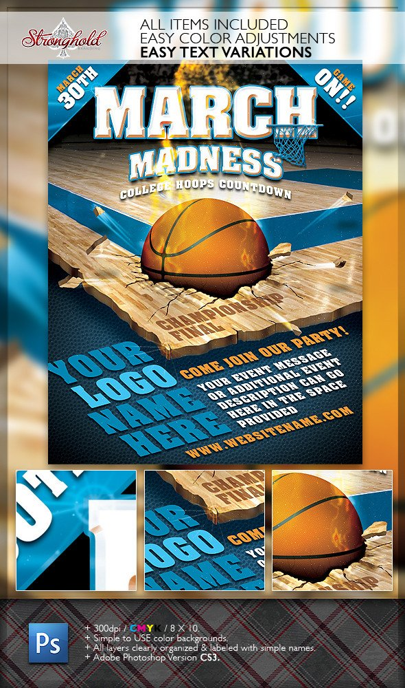Basketball Flyer Template Free March Madness Basketball Flyer Template On Behance