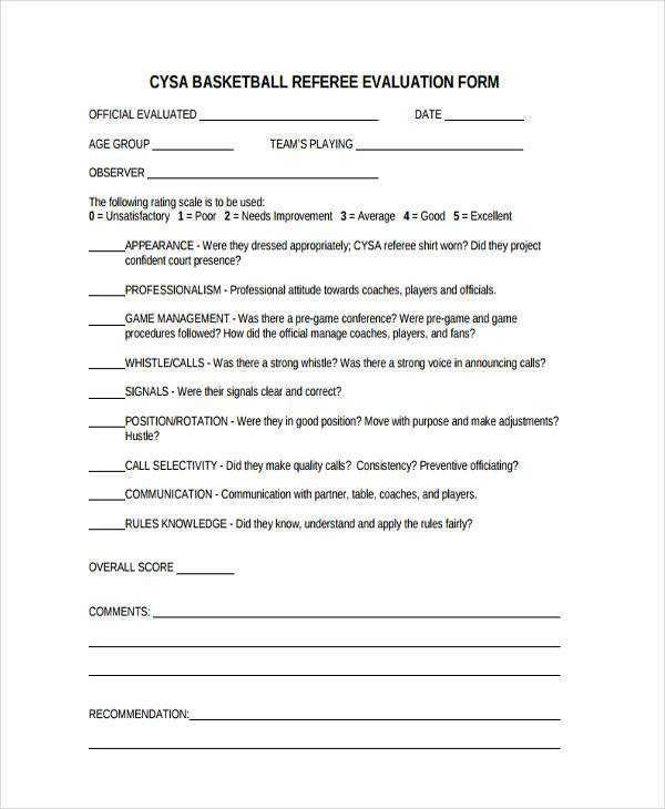 Basketball Player Evaluation form Basketball Evaluation form 10 Free Documents In Word Pdf