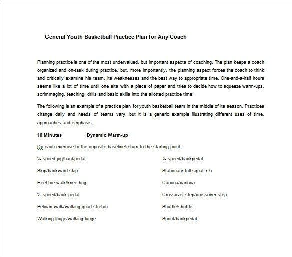 Basketball Practice Plan Templates Basketball Practice Plan Template 3 Free Word Pdf