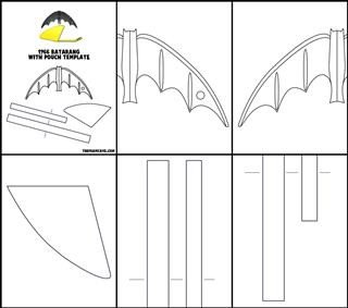Batarang Template Pdf Template for 1966 Batarang and Pouch – the Foam Cave