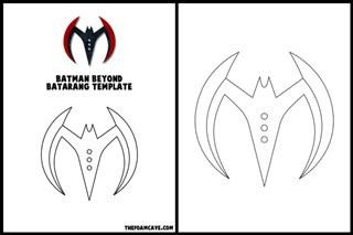Batarang Template Pdf Template for Batman Beyond Batarang – the Foam Cave