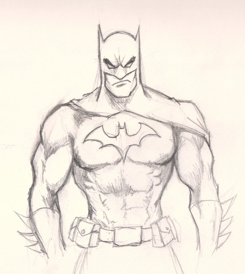 How to draw Batman drawing and digital painting
