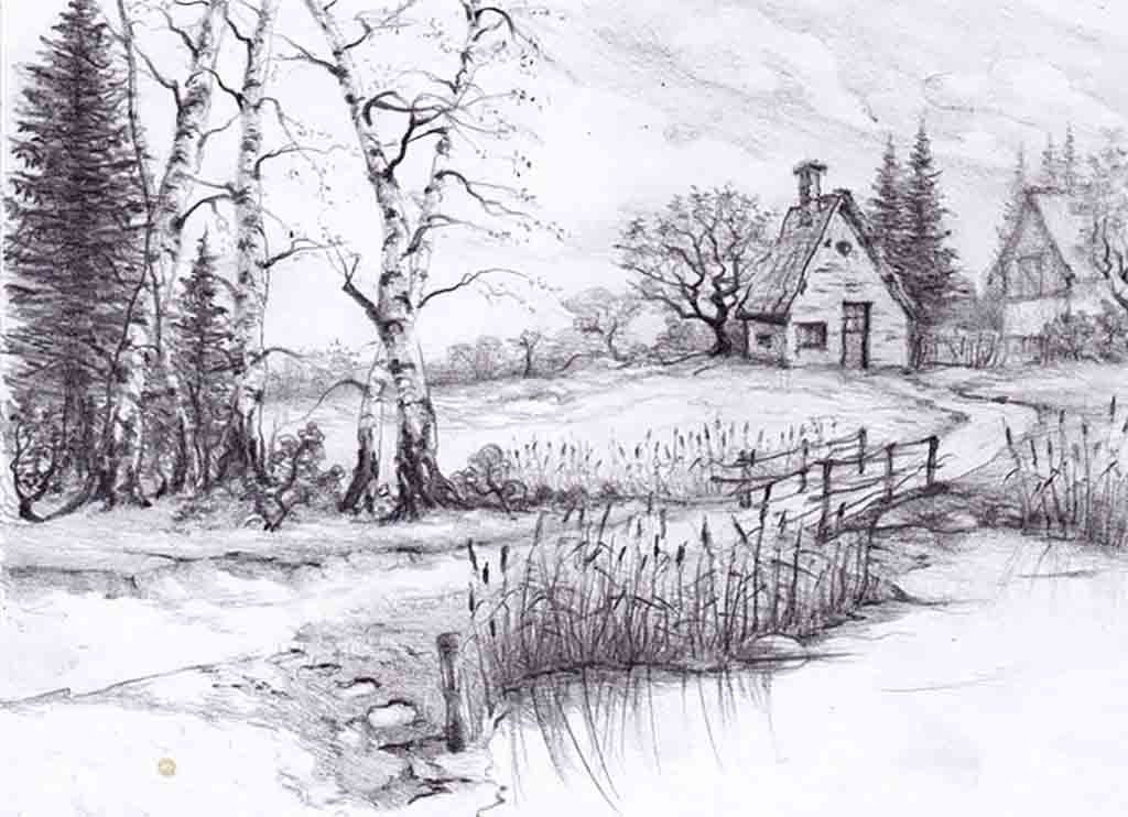 Beautiful Drawings Of Nature Beautiful Pencil Drawings Of Nature