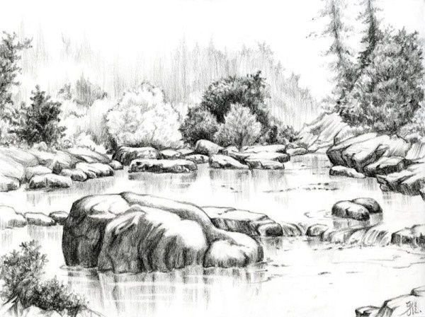 Beautiful Drawings Of Nature Beautiful Sketches Nature 1000 Ideas About Pencil