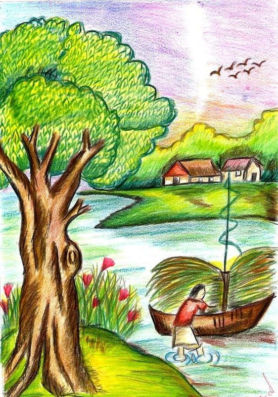 Beautiful Drawings Of Nature Nature Drawing by Aparna Suriaraj