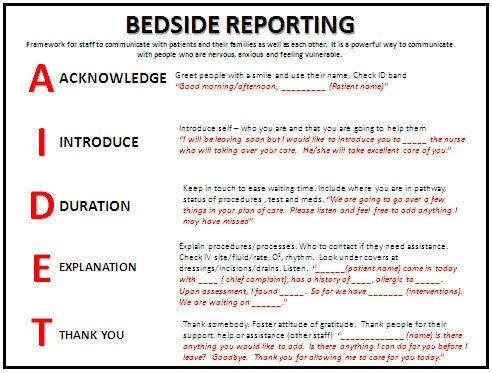 Bedside Shift Report Template Bedside Shift Report is the Most Essential Part Of Shift