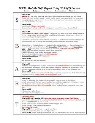 Bedside Shift Report Template issuu Ccu Bedside Shift Report Template by Ian Saludares