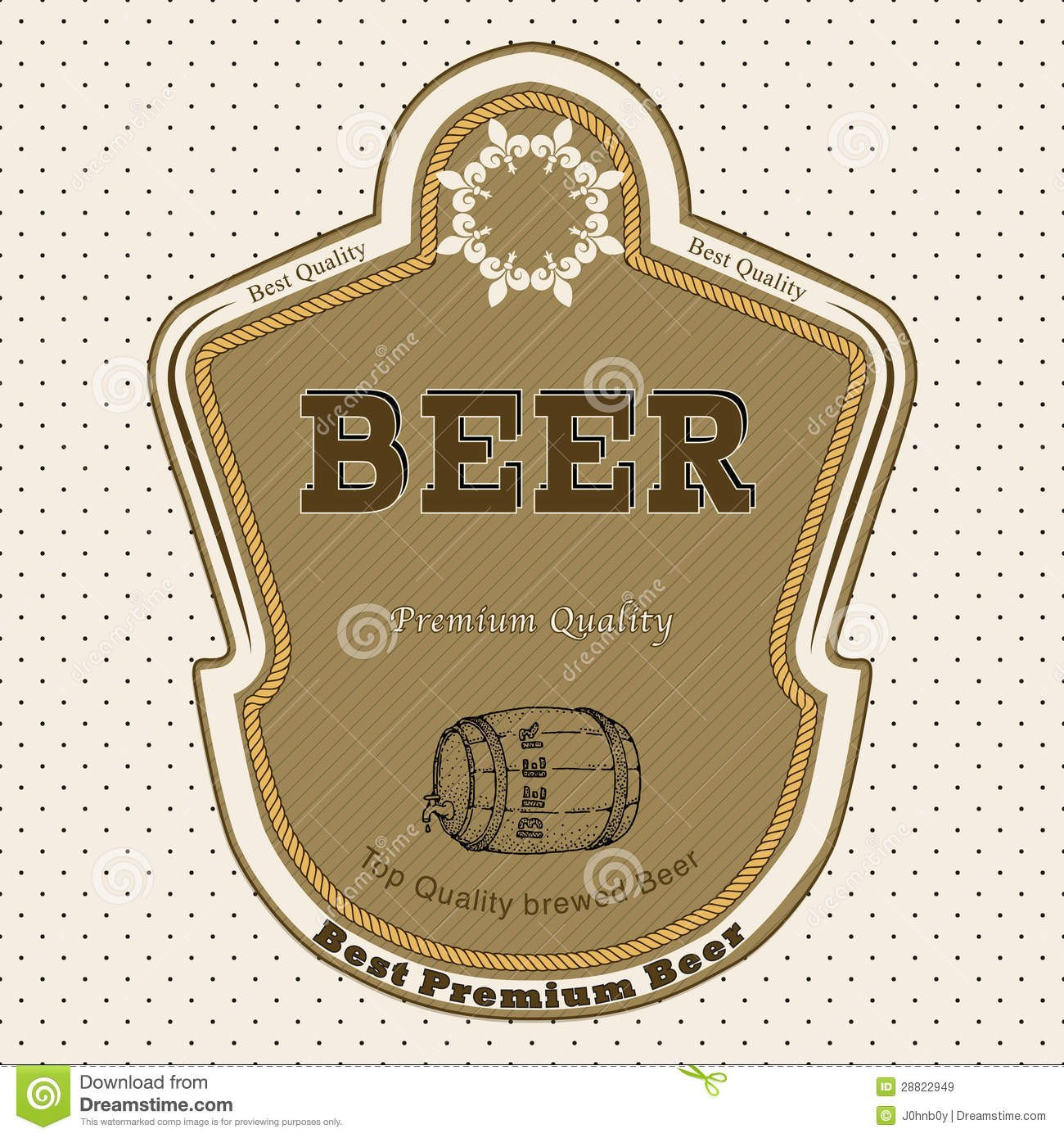 Beer Bottle Label Template Beer Label Royalty Free Stock Image