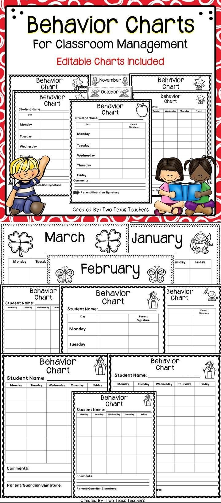 Behavior Charts for Teachers 3035 Best February Valentine S Day Black History Month