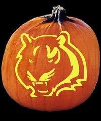 Bengals Pumpkin Carving Stencils Spookmaster Nfl Football Cincinnati Bengals Pumpkin