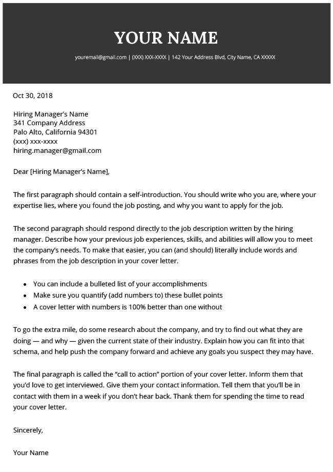 Best Cover Letter Template Modern Cover Letter Templates Free to Download