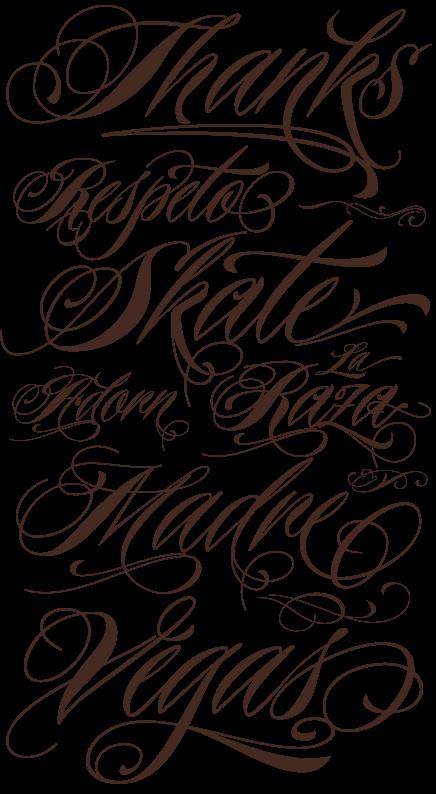 Best Cursive Tattoo Fonts Choosing Tattoo Tattoo Font Styles