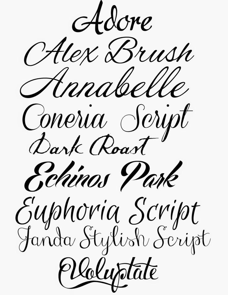 Best Cursive Tattoo Fonts How to Fake Script Calligraphy Fabulous Fonts