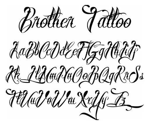Best Cursive Tattoo Fonts Tattoo Letter Fonts and Styles 123 Free 1001 2019