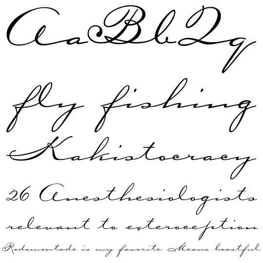 Best Cursive Tattoo Fonts Tattoo Script Fonts