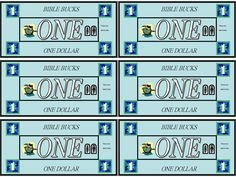 Bible Bucks Template Bible Bucks Play Money Template Kidsmoneyfarm