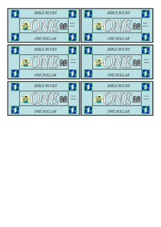 Bible Bucks Template E Dollar Bible Bucks Template Printable Pdf