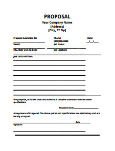 Bid Proposal Template Pdf Bid Proposal Template Download Edit Fill Create and