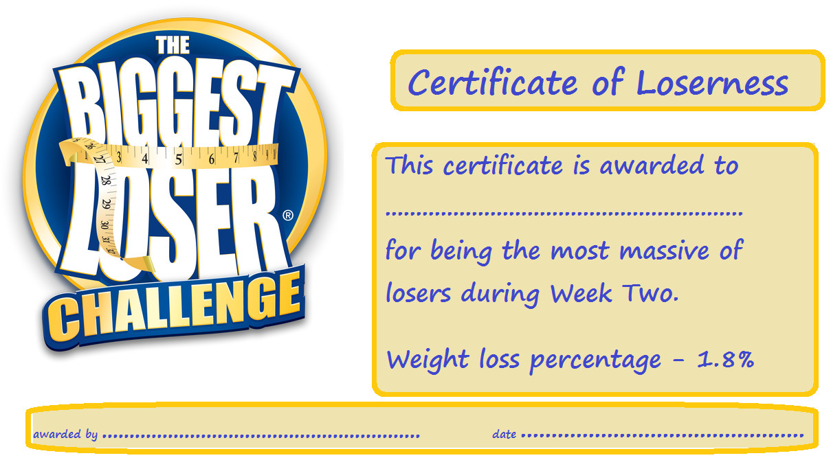 Biggest Loser Certificate Template Baby Belly Bulge Battles and Breastfeeding the Biggest