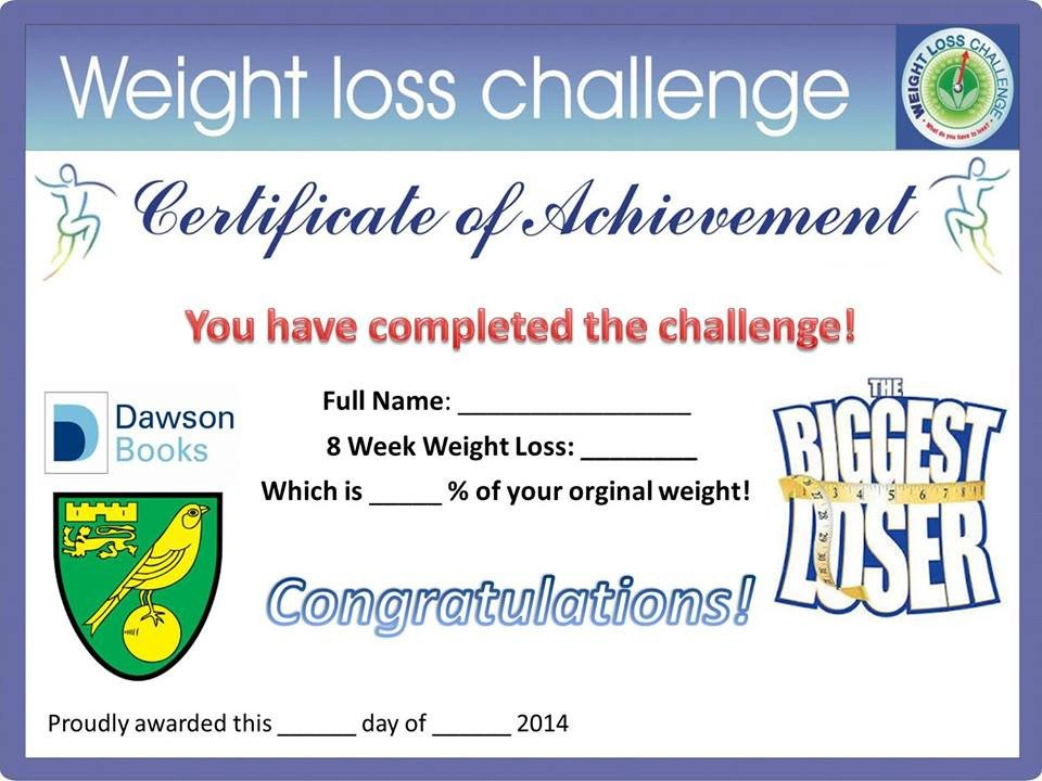 Biggest Loser Certificate Template by Vp Published September 10 2014