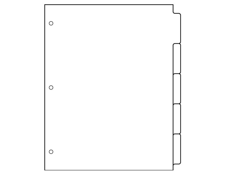 Binder Divider Tabs Template Download Free Dividers 5 Tab Template