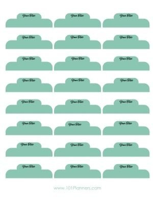 Binder Divider Tabs Template Free Printable Divider Tabs Template