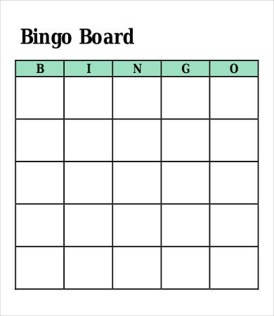 Bingo Card Template Free Bingo Card Template 8 Free Word Pdf Vector format
