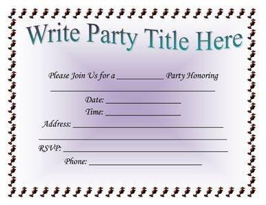 Birthday Invitation Templates Word 5 Invitation Templates Word Excel Pdf Templates